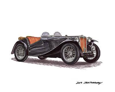 1949 M G T C Original by Jack Pumphrey