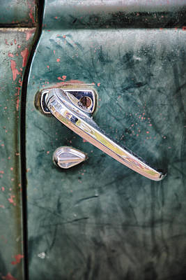 Rusty Old Trucks Photograph - 1950 Classic Chevy Pickup Door Handle by Adam Romanowicz