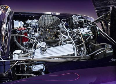 Car Photograph - 1950 Ford Mercury Engine by Radoslav Nedelchev