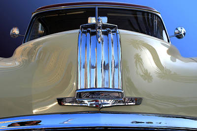 Car Photograph - 1950 Pontiac Chieftain Silver Streak Hood by Radoslav Nedelchev