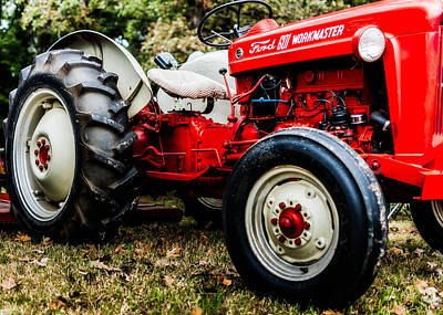 1950s Art Photograph - 1950s-vintage Ford 601 Workmaster Tractor by Jon Woodhams