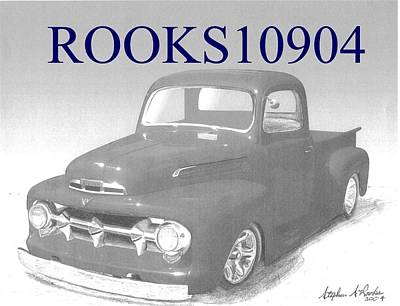 1951 Ford Pickup Truck Art Print Print by Stephen Rooks