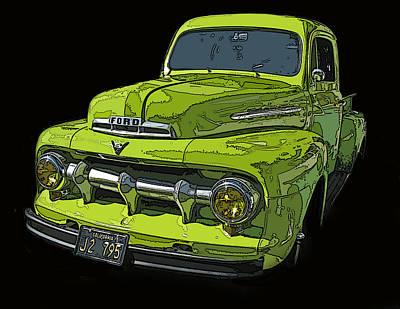 1951 Ford Pickup Truck Print by Samuel Sheats