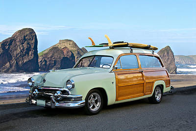Woody Wagon Photograph - 1951 Ford 'woody' Wagon by Dave Koontz