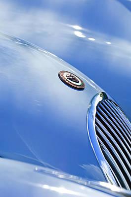 1951 Jaguar Grille Emblem Print by Jill Reger