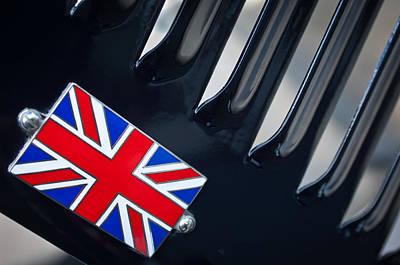 1951 Jaguar Proteus C-type British Emblem Print by Jill Reger