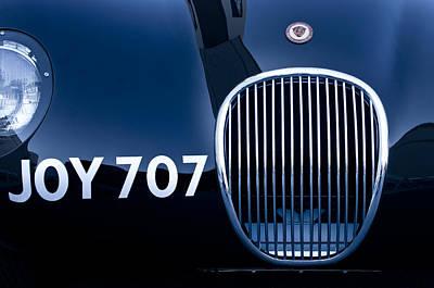 1951 Jaguar Proteus C-type Grille Emblem 3 Print by Jill Reger