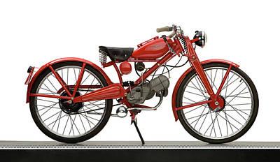 Lightweight Photograph - 1951 Moto Guzzi Hispania 65cc by Panoramic Images