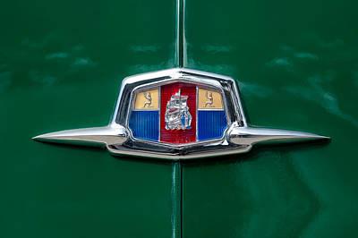 Car Show Photograph - 1951 Plymouth Suburban Emblem by Jill Reger