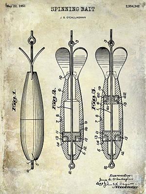 Cape Cod Photograph - 1951 Spinning Bait Patent Drawing by Jon Neidert
