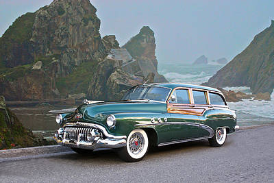 1952 Buick 'woody' Estate Wagon Print by Dave Koontz