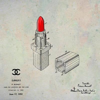 1952 Chanel Lipstick Case 1 Print by Nishanth Gopinathan