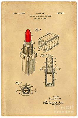 1952 Chanel Lipstick Case 4 Print by Nishanth Gopinathan