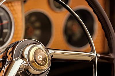 Sterling Photograph - 1952 Sterling Gladwin Maverick Sportster Steering Wheel Emblem -1848c by Jill Reger