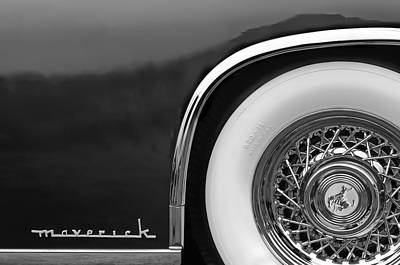 Sterling Photograph - 1952 Sterling Gladwin Maverick Sportster Wheel Emblem - 0321bw by Jill Reger