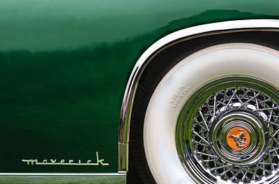 Sterling Photograph - 1952 Sterling Gladwin Maverick Sportster Wheel Emblem -0321c by Jill Reger