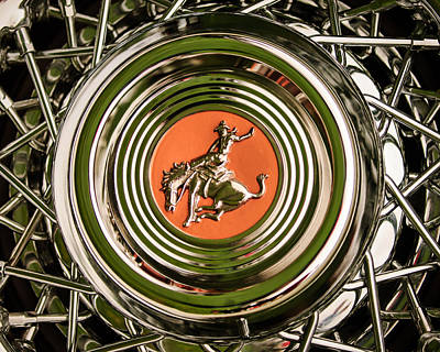 Sterling Photograph - 1952 Sterling Gladwin Maverick Sportster Wheel Emblem - 1720c by Jill Reger