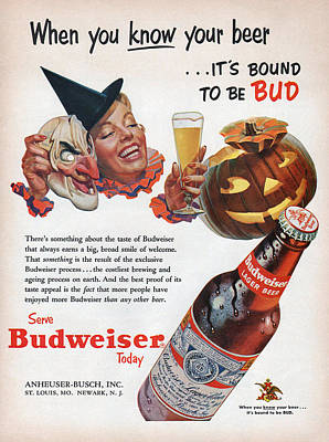 Budweiser Beer Digital Art - 1953 Bud by Carter Jones