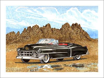 Then Painting - 1953 Cadillac Eldorado Biarritz by Jack Pumphrey