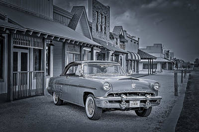 Diner Photograph - 1953 Mercury Monterey Bw 1 by David Morefield