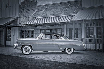1953 Mercury Monterey Bw Auf Deutsch Print by David Morefield