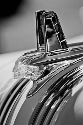 1953 Photograph - 1953 Pontiac Hood Ornament 4 by Jill Reger