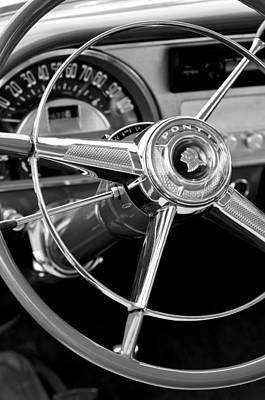 1953 Pontiac Steering Wheel 2 Print by Jill Reger
