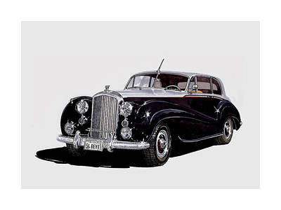 1954 Bentley R Type Turbo Coupe Print by Jack Pumphrey