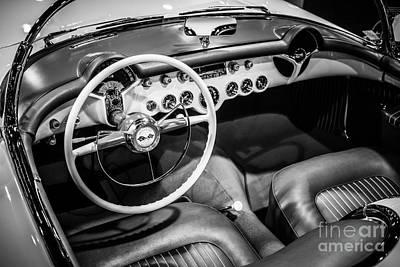 1954 Chevrolet Corvette Interior Print by Paul Velgos