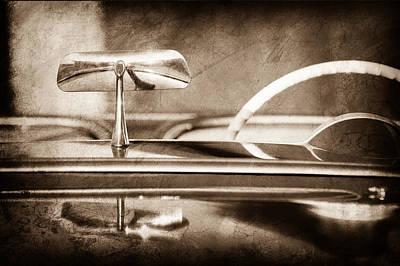 1954 Chevrolet Corvette Rearview Mirror Print by Jill Reger