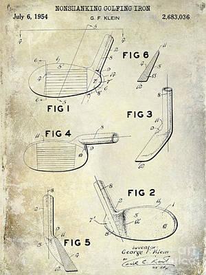 1954 Golf Patent Drawing Print by Jon Neidert