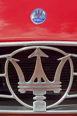 Maserati Photograph - 1954 Maserati A6 Gcs Emblem by Jill Reger