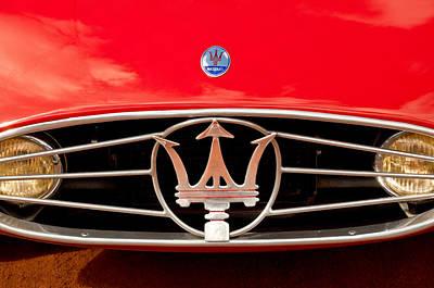 1954 Maserati A6 Gcs Grille Emblem -0259c Print by Jill Reger