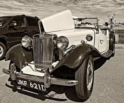 Classic Car Photograph - 1954 Mg Td Sepia by Steve Harrington