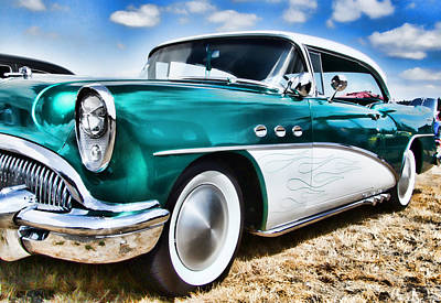 1955 Buick Print by Ron Roberts