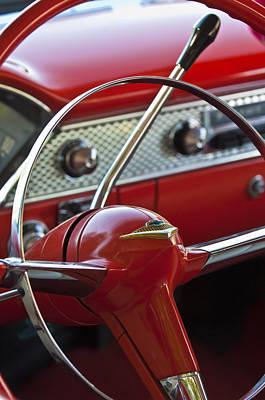 Belair Photograph - 1955 Chevrolet Belair Nomad Steering Wheel by Jill Reger