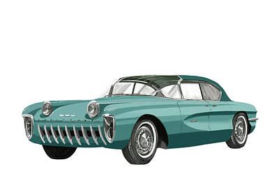 Fiber Glass Painting - 1955 Chevrolet Biscayne Concept by Jack Pumphrey