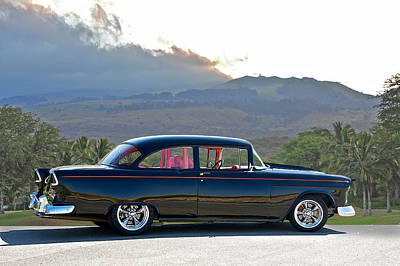1955 Chevrolet Custom Coupe Print by Dave Koontz