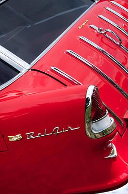 1955 Chevrolet Nomad Wagon Taillight Emblem Print by Jill Reger