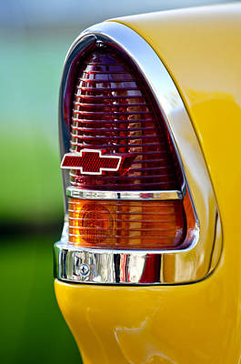 1955 Chevrolet Taillight Emblem Print by Jill Reger