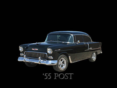 1955 Chevy Post Print by Jack Pumphrey