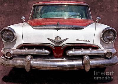 1955 Movies Digital Art - 1955 Dodge In Oil by Steve Kelley