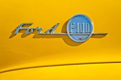 1955 Ford F-100 Pickup Truck -0453c Print by Jill Reger