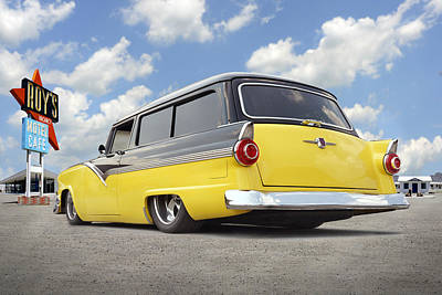 1955 Ford Parkline Low Print by Mike McGlothlen