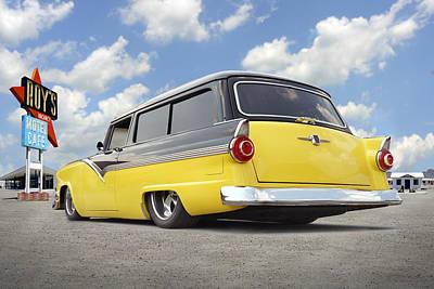 Lowrider Digital Art - 1955 Ford Parkline Low by Mike McGlothlen