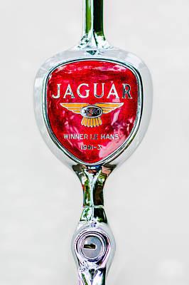 Car Photograph - 1955 Jaguar Emblem -0012c by Jill Reger