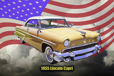 Antique Automobiles Photograph - 1955 Lincoln Capri Luxury Car by Keith Webber Jr