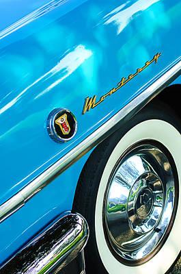 1955 Mercury Monterey Wheel Emblem Print by Jill Reger