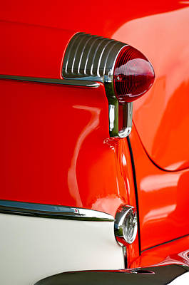 1955 Oldsmobile Taillight Print by Jill Reger