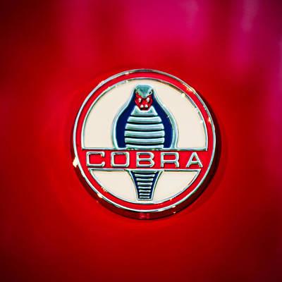 1966 Shelby 427 Cobra Emblem -0124c Print by Jill Reger